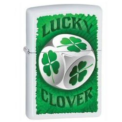 Zippo Zapalniczka 28298 Lucky Clover White Matte ()