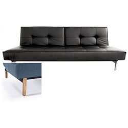 sofa splitback czarna 582 nogi jasne drewno stem - 741010582-741007-11-1-2 od producenta Innovation istyle