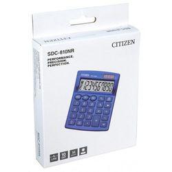 Kalkulator biurowy CITIZEN SDC-810NRNVE, 10-cyfrowy, 127x105mm, granatowy, CI-SDC810NRNVE