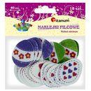 Titanum Naklejka filcowa pisanki jajka 18szt 3,5x4,3cm - kwiatki, serca, kokardki