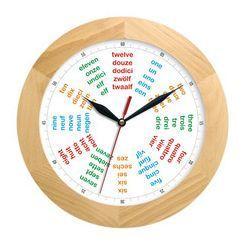 Zegar drewniany solid poliglota marki Atrix
