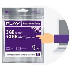 Starter PLAY INTERNET NA KARTĘ 9PLN 3GB MULTI, kup u jednego z partnerów