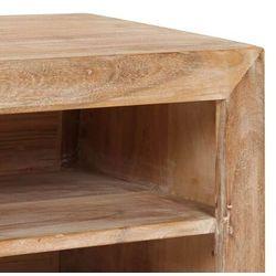 vidaXL Szafka pod TV, drewno akacjowe, 120 x 30 x 40 cm, jasnobrązowa
