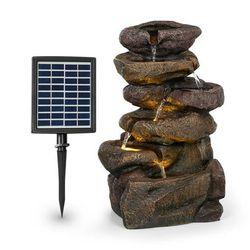 Blumfeldt Savona, fontanna solarna, 2,8 W, tworzywo Polyresin, 5-godzinny czas pracy akumulatora, oświetlenie LED, imitacja kamienia