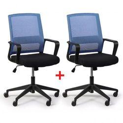 B2b partner Krzesło biurowe low 1 + 1 gratis, niebieski