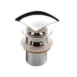 Deante Korek kwadratowy click-clack nhc 011b z przelewem do umywalki, kategoria: pozostałe artykuły hydrauli