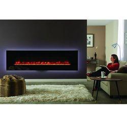 Stovax - dobra oferta Kominek radiance glass 190w z ramką w kolorze czarnym.