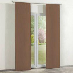 Dekoria zasłony panelowe 2 szt., brązowy, 60 × 260 cm, loneta