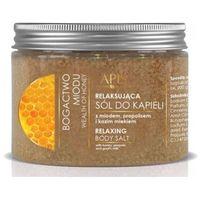 bogactwo miodu relaksująca sól do kąpieli z miodem, propolisem i kozim mlekiem (41090) marki Apis