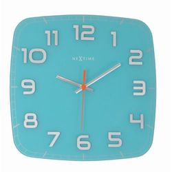 - zegar ścienny classy - turkusowy marki Nextime