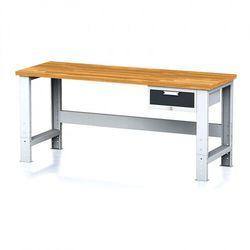 Stół warsztatowy MECHANIC, 2000x700x700-1055 mm, nogi regulowane, 1x szufladowy kontener, 1x szuflada, antracyt