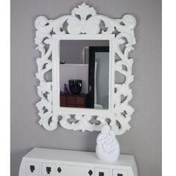 Lustro, ażurowa, biała rama, styl barokowy. marki Design by impresje24