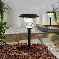 Lampa solarna LED Felicia, szklany klosz – 2 szt.