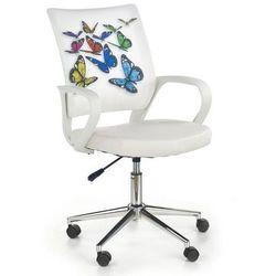 Krzesło obrotowe z kolorowymi motylami ibis butterfly marki Halmar