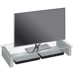 Stolik pod telewizor, 82 cm, przezroczysty, szkło, 16079900