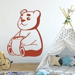 Wally - piękno dekoracji Naklejka na ścianę dla dzieci miś 2391