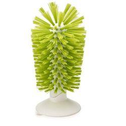 - szczotka z przyssawką do mycia kieliszków brush-up - zielona - zielony ||biały marki Joseph joseph
