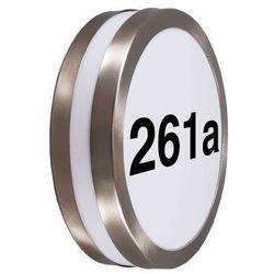 Lampa zewnętrzna Leeds z numerami domu RvS (lampa zewnętrzna ścienna)