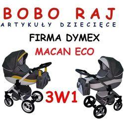 WÓZEK GŁĘBOKO - SPACEROWY FIRMY DYMEX MODEL MACAN ECO + FOTELIK 3 w 1 z kategorii Pozostałe wózki dzieci�