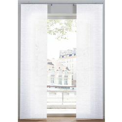Nieprześwitująca zasłona panelowa w strukturalny wzór (1 szt.) biały marki Bonprix