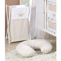 MAMO-TATO Kosz na bieliznę Śpioch w hamaku brąz z białym - produkt z kategorii- Kosze na pranie