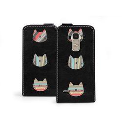 Flip fantastic - lg g4 stylus - etui na telefon flip fantastic - kotki w paski, marki Etuo.pl