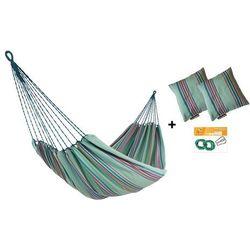 Zestaw hamakowy HW w kolorze 297 z poduszkami i zestawem montażowym, zielony HW-PZS-297