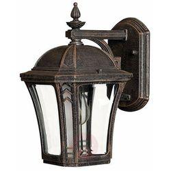 Ogrodowa LAMPA ścienna WABASH HK/WABASH2/S Elstead zewnętrzna OPRAWA latarenka na taras vintage outdoor IP44 patyna, HK/WABASH2/S