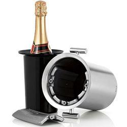 Stalowy schładzacz z uchwytami do wina blomus lounge (b66732)