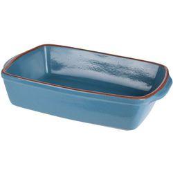 Eh excellent houseware Ceramiczne naczynie żaroodporne do zapiekania 3,5 l, niebieskie (5902973403435)