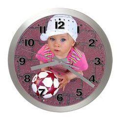 Zegar ścienny LOGO aluminiowy, LAL2412