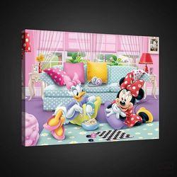 Obraz Disney: Minnie i Daisy grają w warcaby PPD1445, PPD1445
