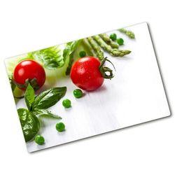 Deska kuchenna duża szklana Świeże warzywa