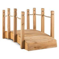Blumfeldt rialto mostek ogrodowy kładka ozdobna 58x58x122cm (sxwxg) lite drewno