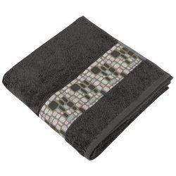 Bellatex Ręcznik Kamienie ciemnobrązowy, 50 x 100 cm , 50 x 100 cm
