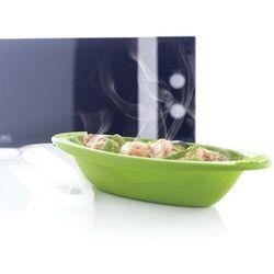 Mastrad - Naczynie do zapiekania w mikrofalówce - średnie, zielone