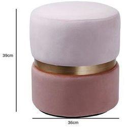 Pufa Delice Double różowa - różowy ||różowy ciemny, 175621 (12875123)