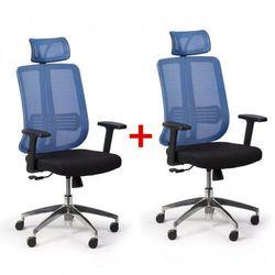 B2b partner Krzesło biurowe cross 1 + 1 gratis, niebieski