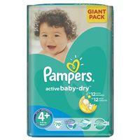 PAMPERS Active Baby 4+ MAXIPLUS 70 szt.(9-16kg) GIANT PACK – pieluszki jednorazowe