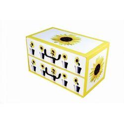 Pudełko kartonowe 2 szuflady poziome DONICZKI-SŁONECZNIK - sprawdź w kamai24.pl