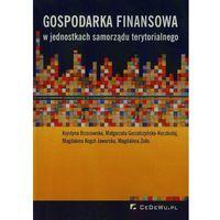Gospodarka finansowa w jednostkach samorządu terytorialnego (9788375566468)
