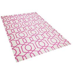 Dywan różowo-beżowy 160 x 230 cm krótkowłosy LAMIA (7105272327350)