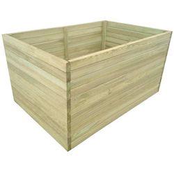 Donica ogrodowa, impregnowane drewno, 100x100x77 cm