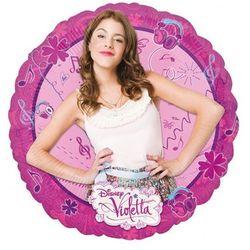 Balon foliowy do patyka Violetta - 23 cm - 1 szt