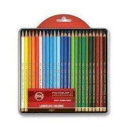 Kredki Polycolor Krajobraz 24 kolory kasetka metalowa (8593539247760)