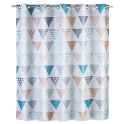 Zasłona prysznicowa Ethno Flexi, tekstylna, 180x200 cm, WENKO, B06XD8GRQ5