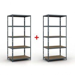 B2b partner Regał półkowy 2000 x 900 x 600 mm, nośność 175 kg 1+1 gratis
