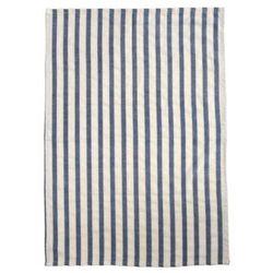 Ib Laursen Ręcznik Kuchenny Biały w Granatowe Paski - 6165-09