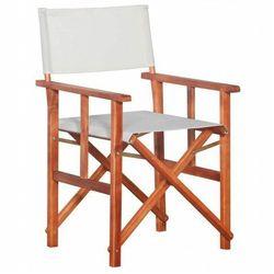 Krzesło reżyserskie tarasowe Martin - białe, vidaxl_45596