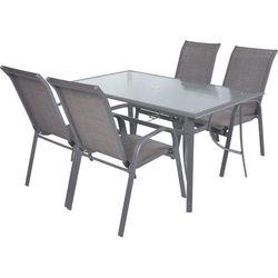 Hecht czechy Hecht sofia set 4 meble ogrodowe zestaw mebli ogrodowych stół + 4 krzesła aluminium szkło - ewimax oficjalny dystrybutor - autoryzowany dealer hecht (8594061746639)